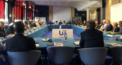 Partner University Presidents of the U7 Alliance at the International U7 Summit in Paris, July 9-10, 2019, Sciences Po